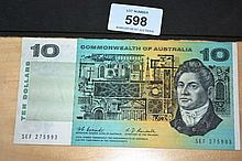 Australian Coombs/Randall $10 note