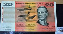 2 x Coombs/Wilson $20 notes