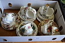 Royal Albert china incl. cups, saucers, some trios