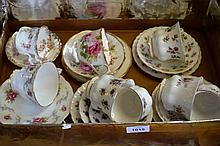 Royal Albert teacups and saucers incl. some trios,