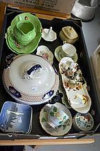 Box: 2 Royal Copenhagen pin dishes, Carltonware