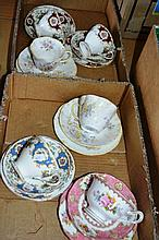 2 boxes: china trios incl. Foley, Queens, Royal