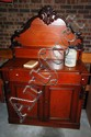 Antique colonial cedar chiffonier, shield back,