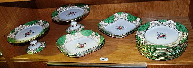 Crown Staffordshire part dinner service comprising