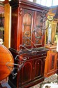 A Victorian style, solid mahogany bookcase, glazed
