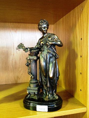 Fine antique bronzed spelter statue Classical