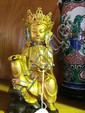 Vintage gilt bronze figure of a sitting Buddha