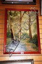 Oil painting on canvas by C A Edwards, signed and