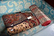 3 x various rugs - one 87 x 45cm, one 420 x 70cm,