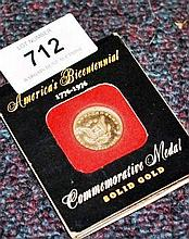 USA 1976 Bi-Centennial solid gold commemorative