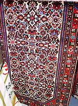 Persian hand woven pure wool runner, Hamadan
