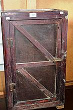 Rustic Depression era 1 door cabinet with interior