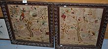 Pair of antique Dutch needlepoint embroideries,