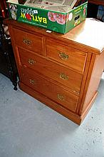 Antique kauri pine chest of 4 drawers, Federation