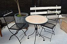 3 piece patio setting comprising of a table and 2