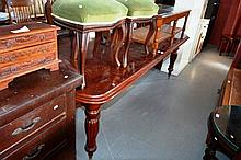 Victorian style mahogany dining table with shaped