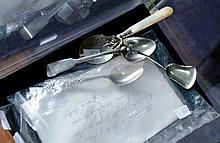 4 small silver spoons, incl. a Georgian example,