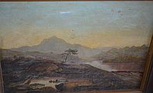 Antique oil painting on canvas of a Scottish