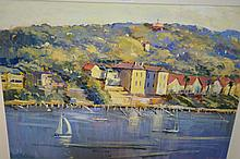 Brian Agnew, oil on board, 'Afternoon - Balmain