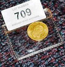 10 mark gold coin from Prussia German State 1888,
