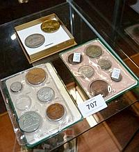 Collection of coins to include 2 plastic folders