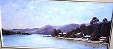 Barbara O'Donnell oil on board, Hawkesbury River,