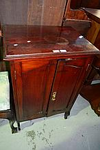 Vintage 2 door music roll cabinet, comes with key,
