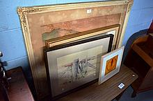 5 x various framed lithographic prints, 2 various