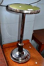 Art Deco, chrome wine table with bakelite fitting