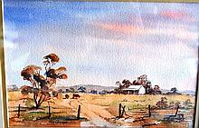 Tom Cross, watercolour, pastoral scene, signed, 18