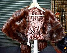 Vintage brown fur stole