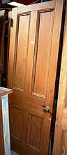 Pair of old internal 4 panelled timber doors,