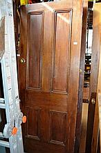 Pair of early timber interior doors, 4 panelled,