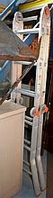 Aluminium folding ladder, note: can be used as a