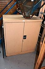Namco 2 door cream painted steel storage cupboard,