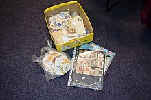 Box of stamp & related items incl. bulk loose