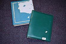 2 albums containing assorted world stamps & cards,