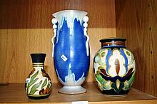 4 various Dutch gouda vases, tallest is 26cm