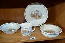 4 pieces of Royal Doulton Bunykins, incl. a plate