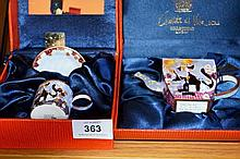 2 boxed sets - lim/ed, enamel ware, small teapot &