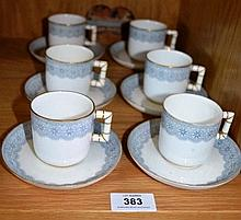 Set of 6 Royal Worcester coffee cups & saucers, 1
