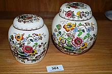 Pair of Masons Ironstone ginger jars, 'Nabob'