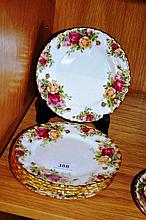Set of 6 Royal Albert 'Old Country Roses' side