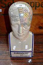 Ceramic phrenology head