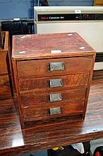 Small 4 drawer desk top chest