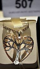 Sterling silver heart-shaped pendant, in the shape