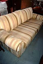 Freedom furniture 2.5 seater sofa, neutral striped