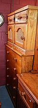 3 piece bedroom set incl. 6-drawer pine chest and