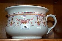 Royal Doulton chamber pot 'Josephine' pattern