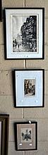Series of 3 various English engravings, 1 of a